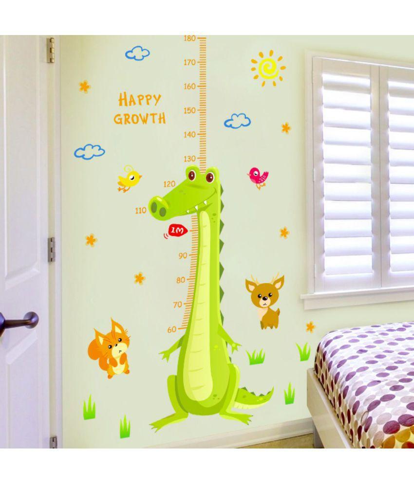stickerskart wall sticker kids height scale with dino cartoon rh snapdeal com