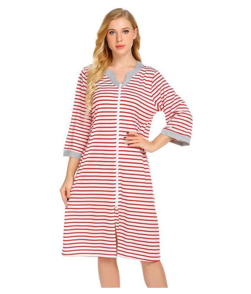 Generic Cotton Nightsuit Sets - Red
