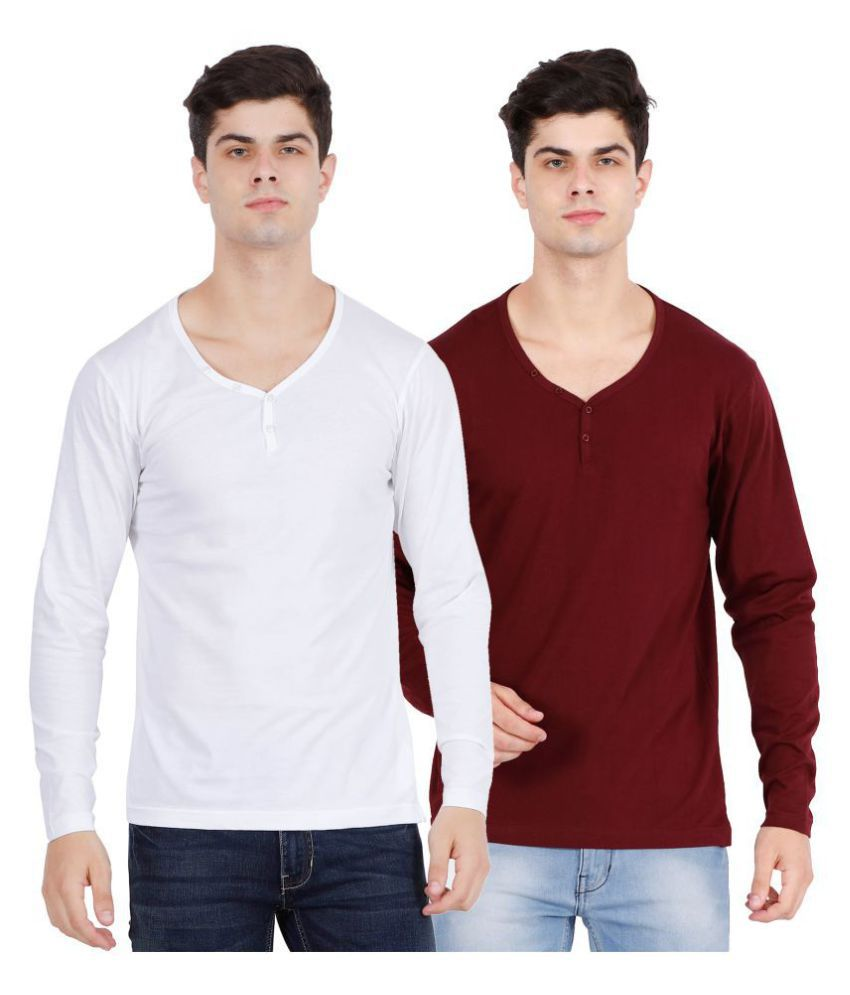 OJASS Multi Full Sleeve T-Shirt Pack of 2
