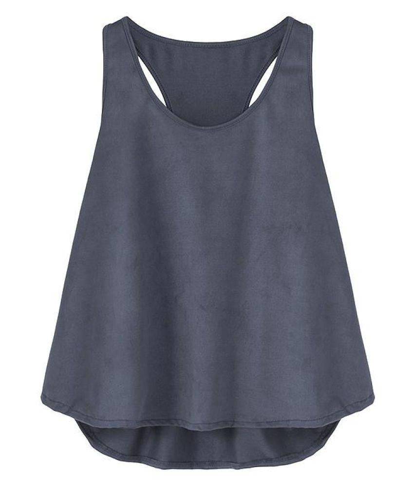 Generic Blue Sleeveless T-Shirt