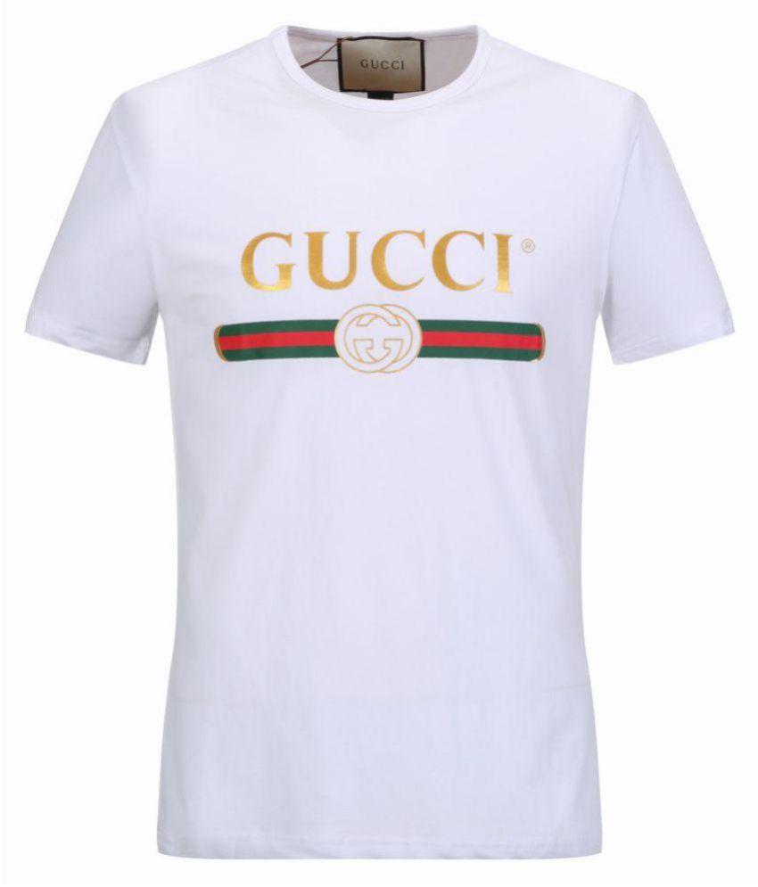 62447fef700 Gucci White Half Sleeve T-Shirt - Buy Gucci White Half Sleeve T-Shirt  Online at Low Price - Snapdeal.com