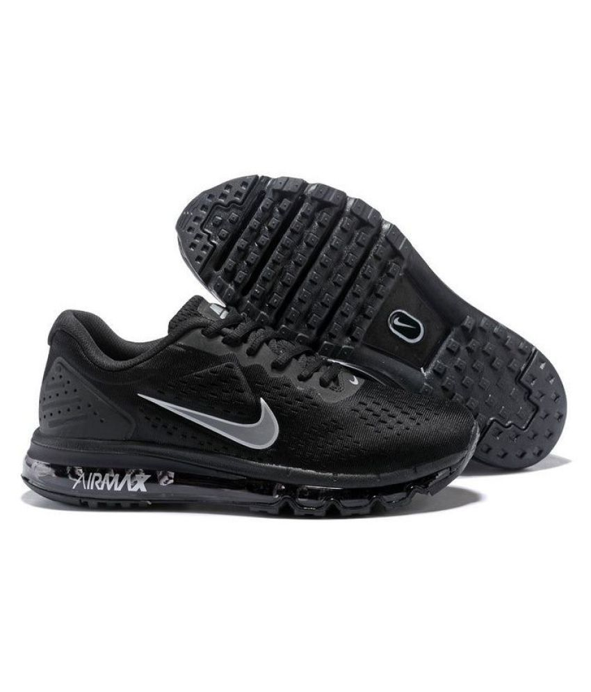 0774dfb2d595 Nike AIR MAX OFF-WHITE 2019 Running Shoes Black  Buy Online at Best Price  on Snapdeal