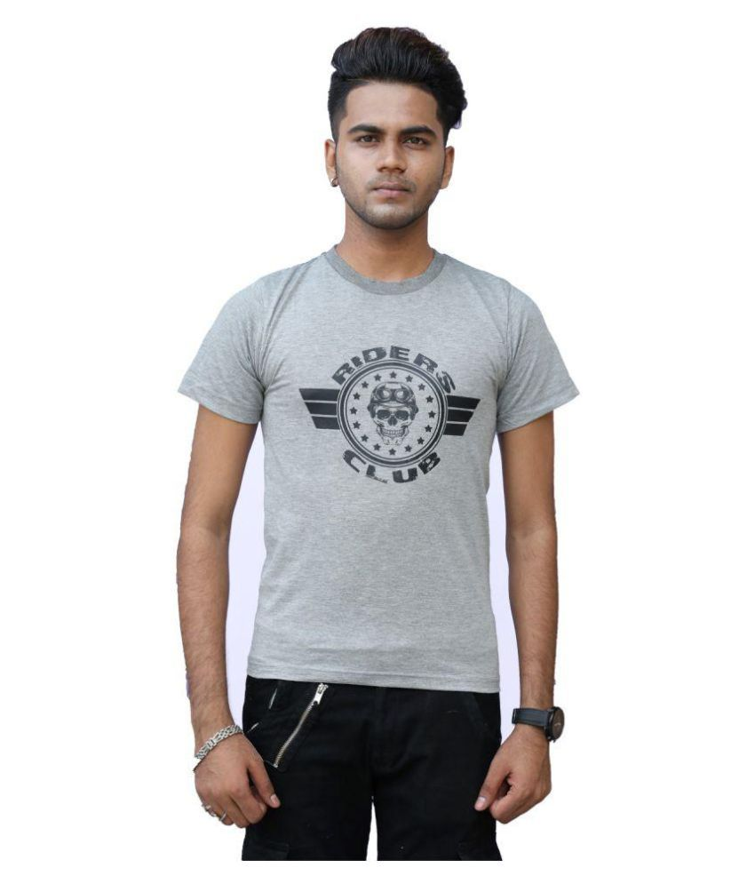 get set fashion Grey Half Sleeve T-Shirt