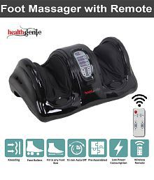 Healthgenie Foot Massager (With Remote) for Pain Relief with Kneading Function - Black