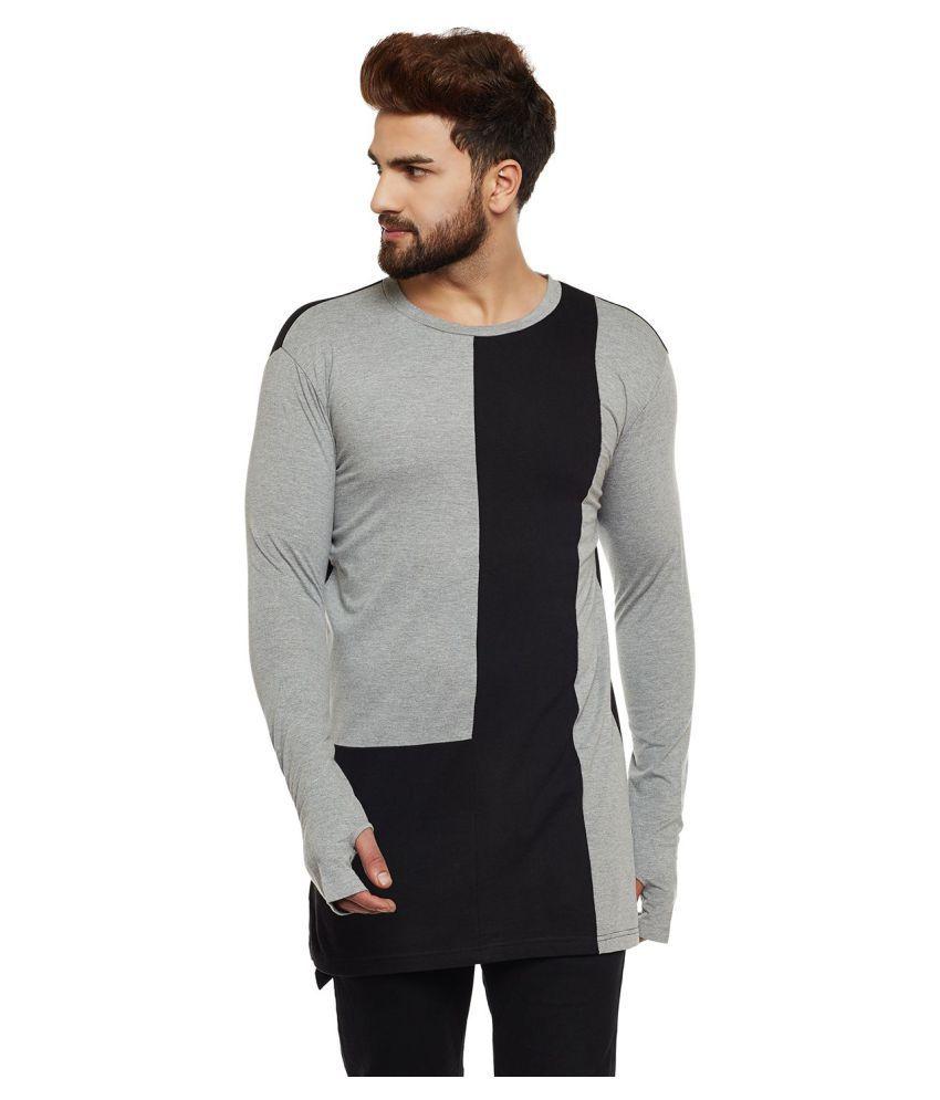 Hypernation Grey Full Sleeve T-Shirt Pack of 1