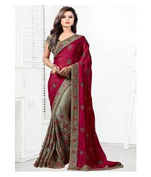 a232b01e59 Quick View. SareeShop Designer SareeS Red and Brown Georgette Saree