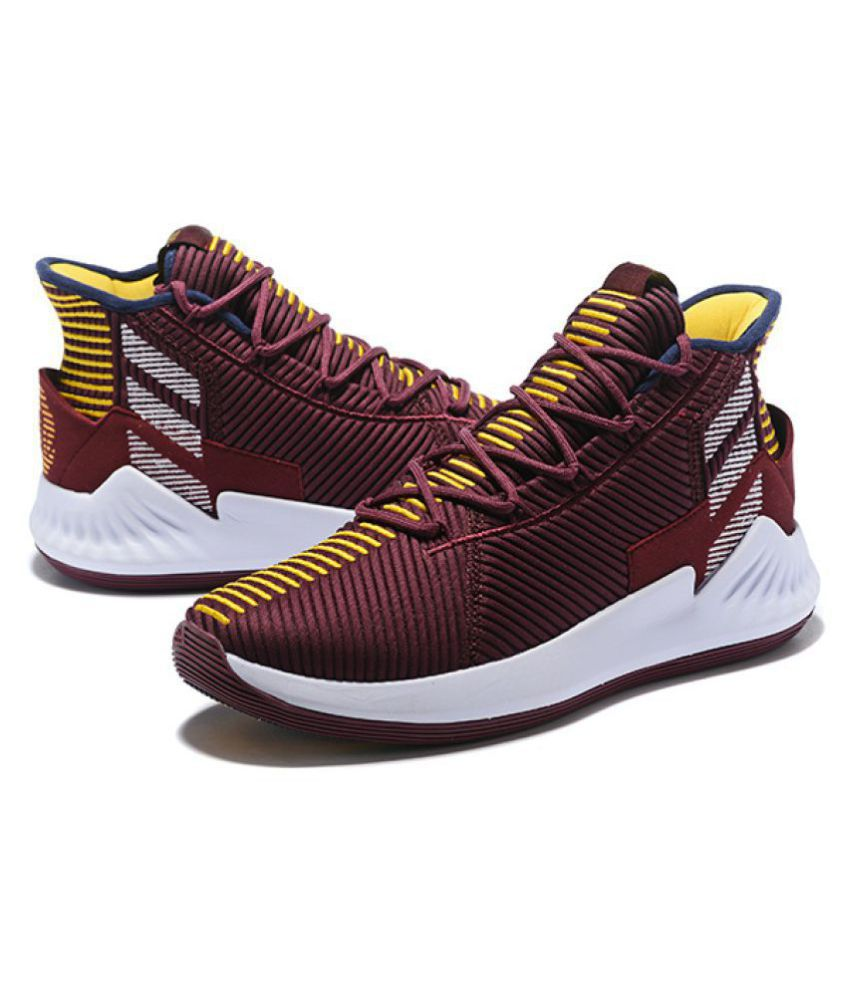 48afb5366 Adidas D ROSE 9 2018 LTD Maroon Basketball Shoes - Buy Adidas D ROSE ...