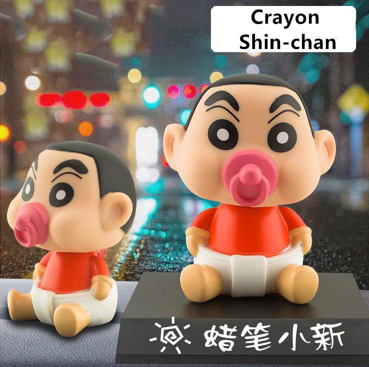 Cute Shinchan Car Dashboard Bobble Head With Stand Desktop Toy