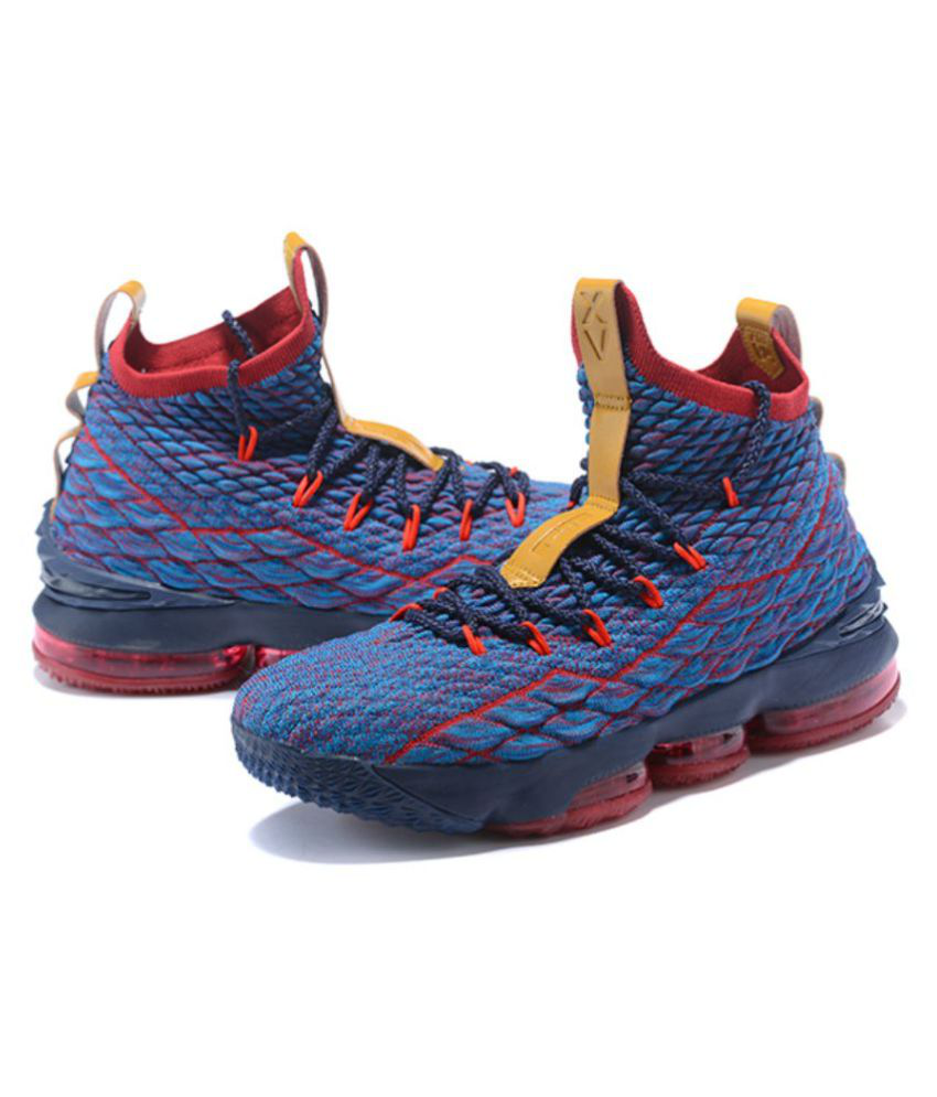 ea12f34cafc Nike LeBron 15 Blue Basketball Shoes - Buy Nike LeBron 15 Blue Basketball  Shoes Online at Best Prices in India on Snapdeal