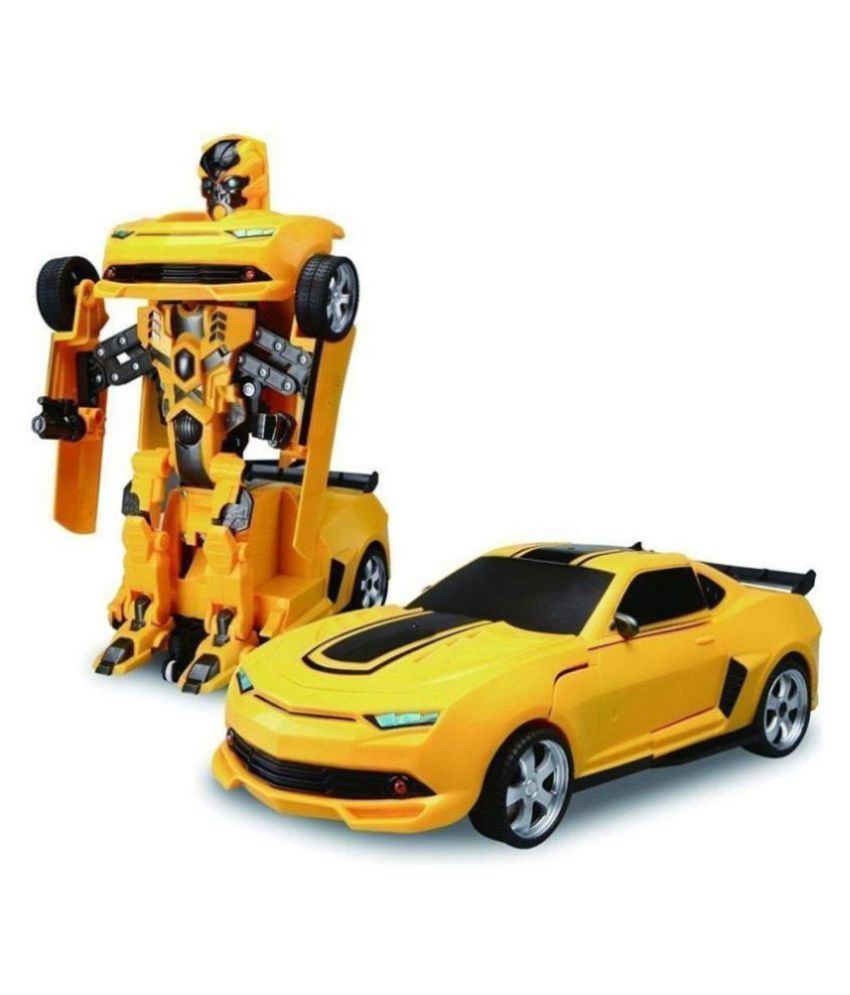 Darling Toys 2 In 1 Transform Robot Races Car Toy With Bright Lights