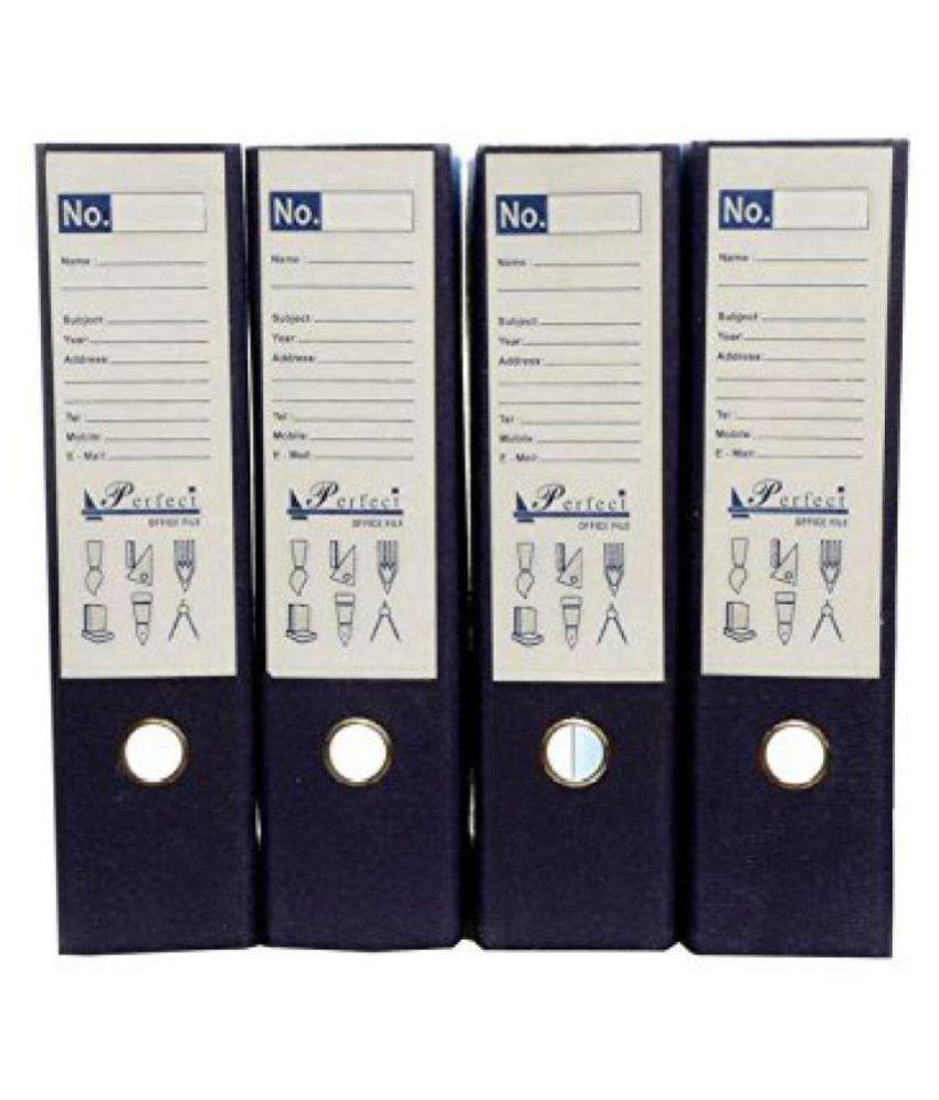 Helloperfect Post Binder Box File, 35x31x8cm - Pack of 4