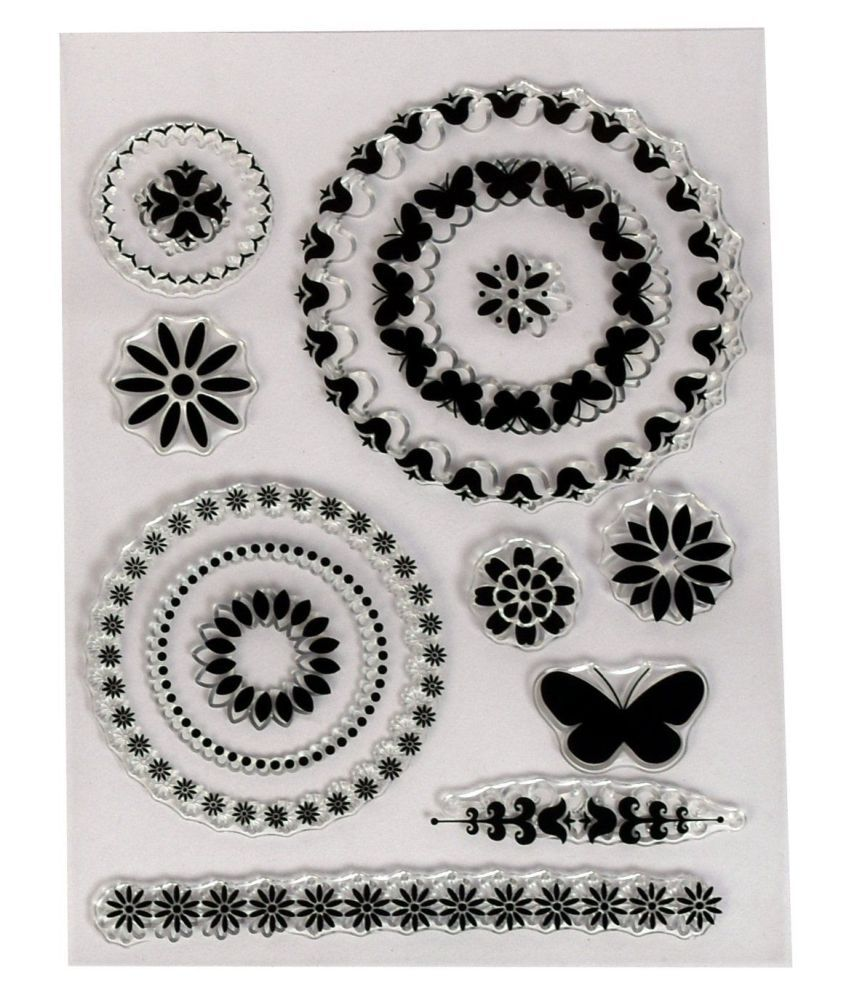 Clear Rubber stamp Big Size , used in textile & block printing, card &  scarpbook making