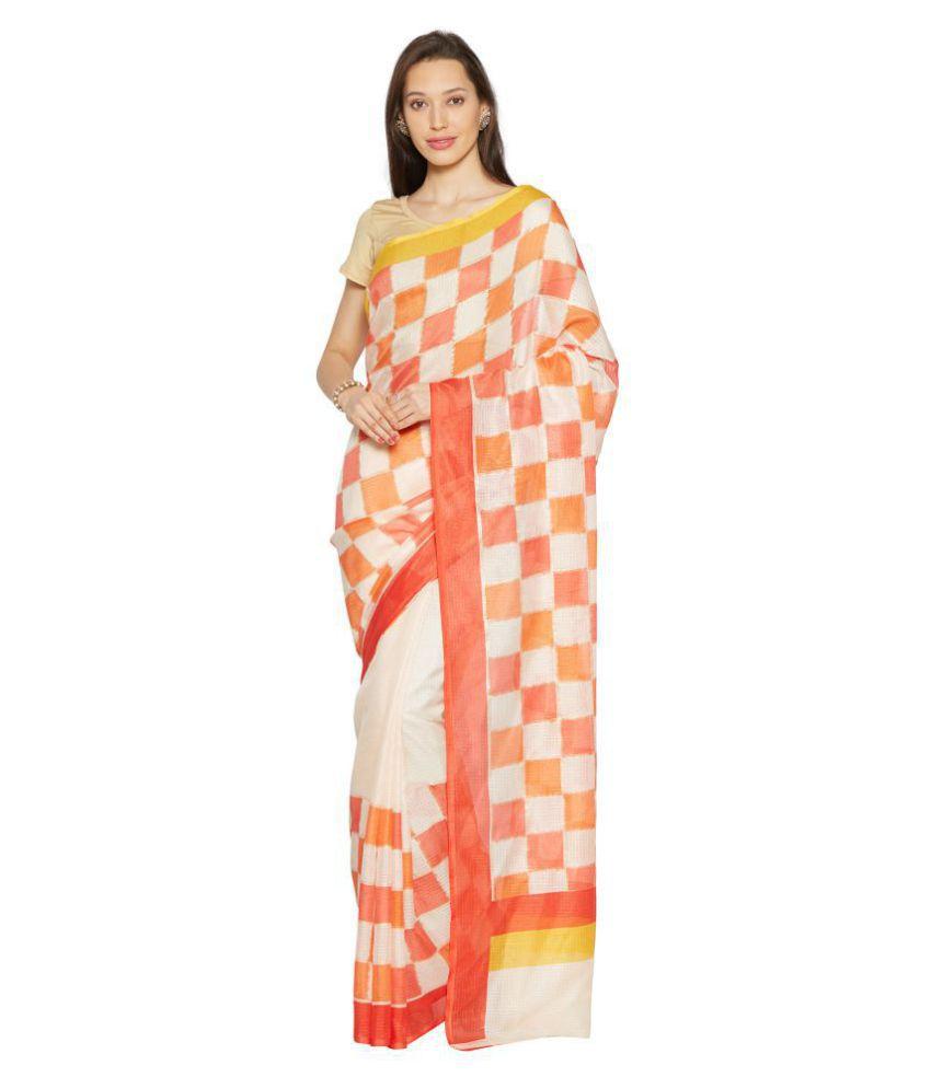 42136a51f8 Kvsfab Peach Bhagalpuri Silk Saree - Buy Kvsfab Peach Bhagalpuri Silk Saree  Online at Low Price - Snapdeal.com