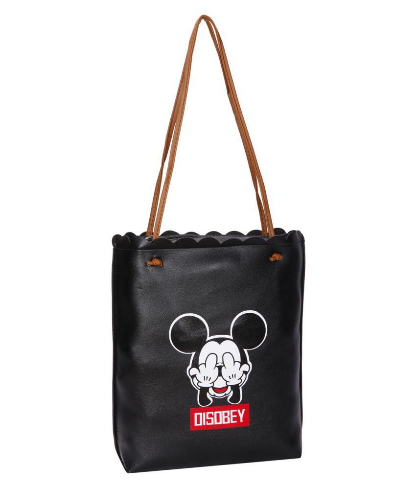 Bagkok Black P.U. Tote Bag