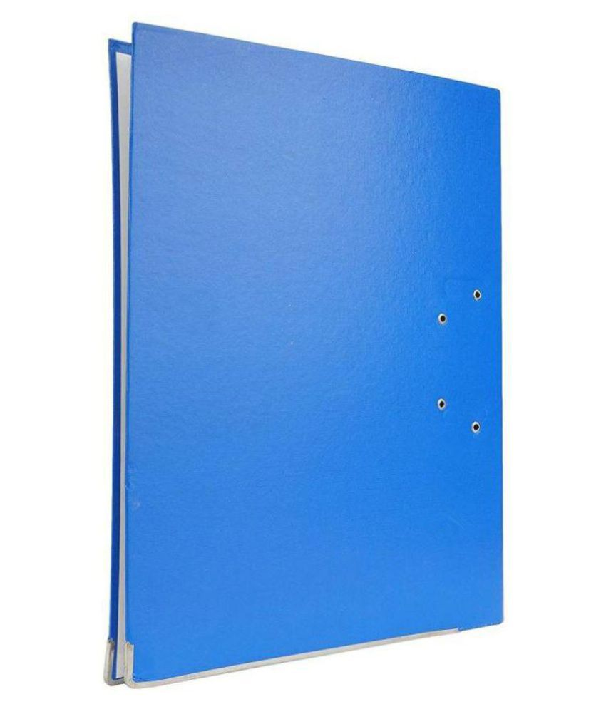 Helloperfect PVC Office Box File - Lever Arch File  (Set Of 8, Blue)