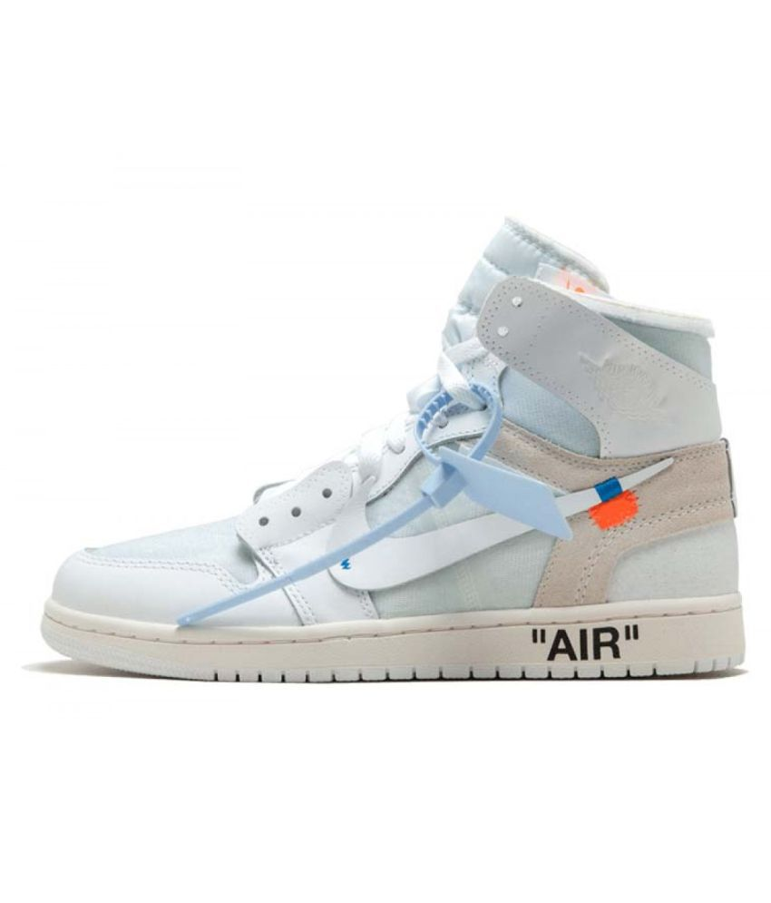2cfed63814e Nike AIR JORDAN 1 X OFF-WHITE White Basketball Shoes - Buy Nike AIR JORDAN 1  X OFF-WHITE White Basketball Shoes Online at Best Prices in India on  Snapdeal