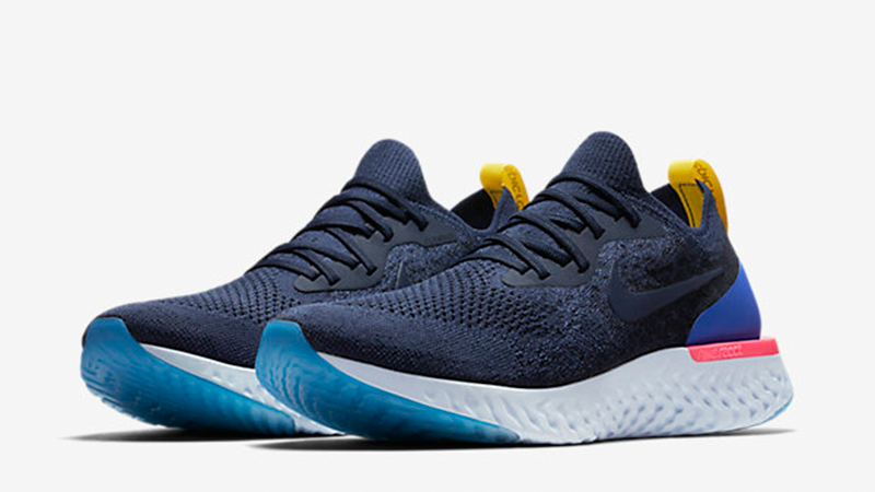 cee26784288 Air Max Nike Epic React Flyknit Running Shoes Blue  Buy Online at ...
