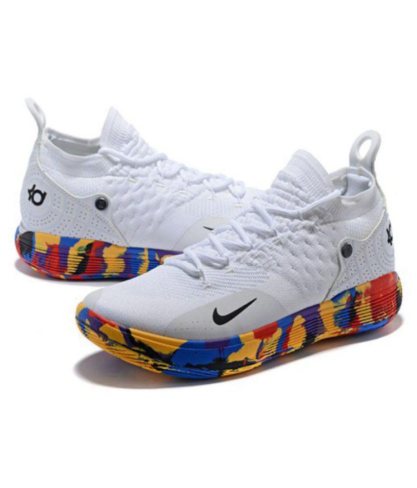 a8b40724bd2 Nike KD 11 White Basketball Shoes