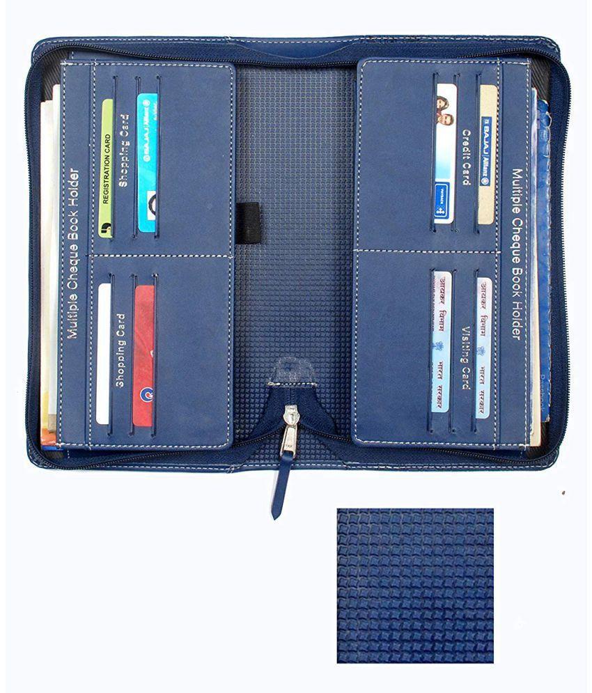Sukeshcraft Multiple Cheque Book Holder Blue