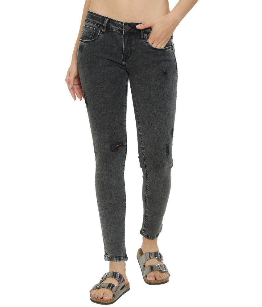 Soie Cotton Jeans - Black