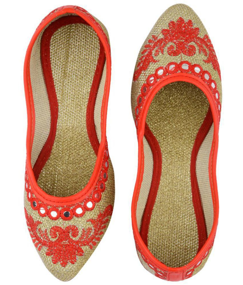 Mochdi Orange Ethnic Footwear