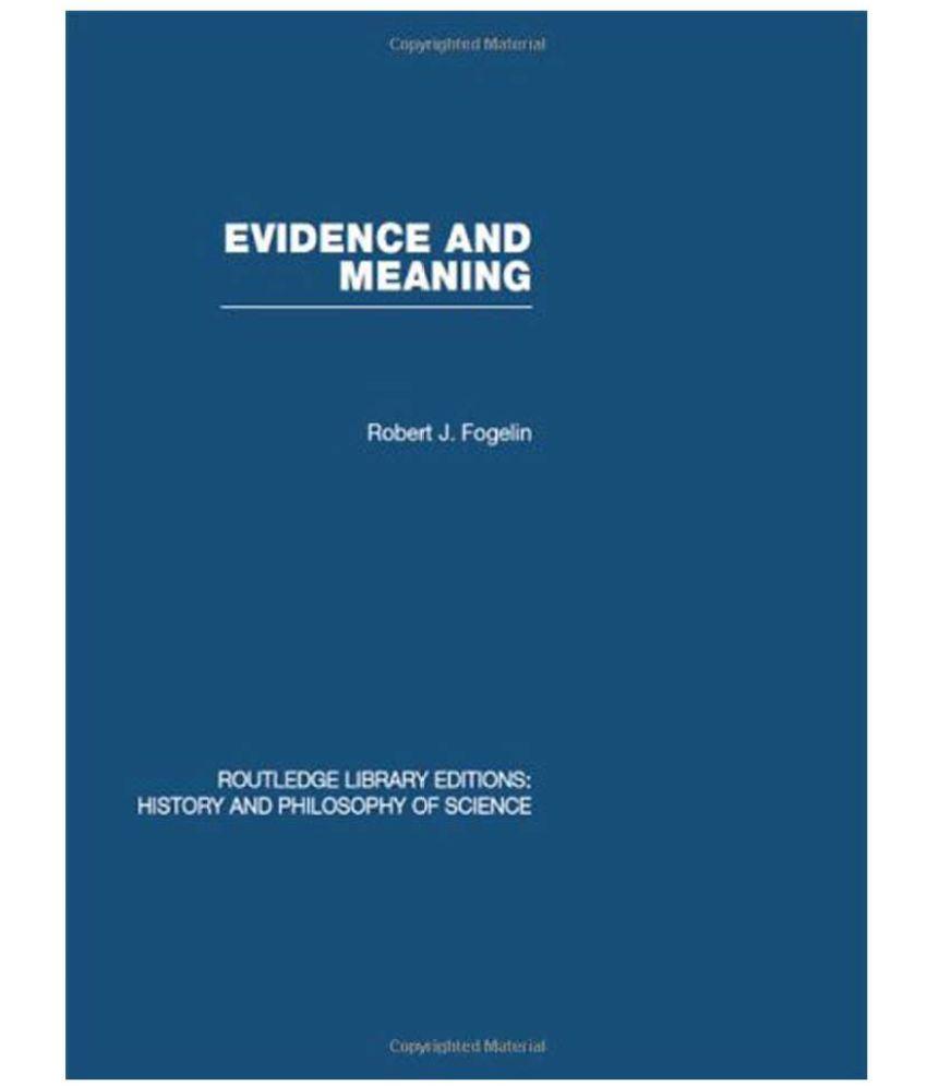 Evidence and Meaning: Buy Evidence and Meaning Online at ...
