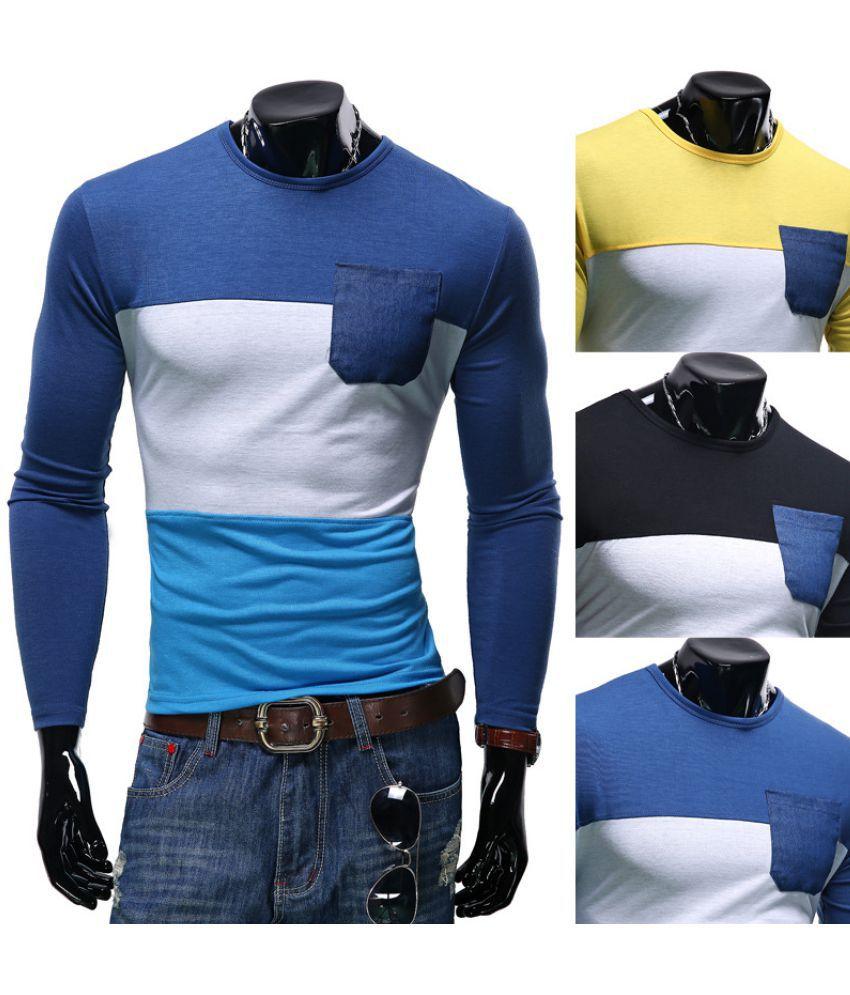 Epiphany Blue Full Sleeve T-Shirt Pack of 1