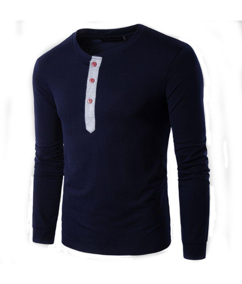 Epiphany Navy Full Sleeve T-Shirt Pack of 1