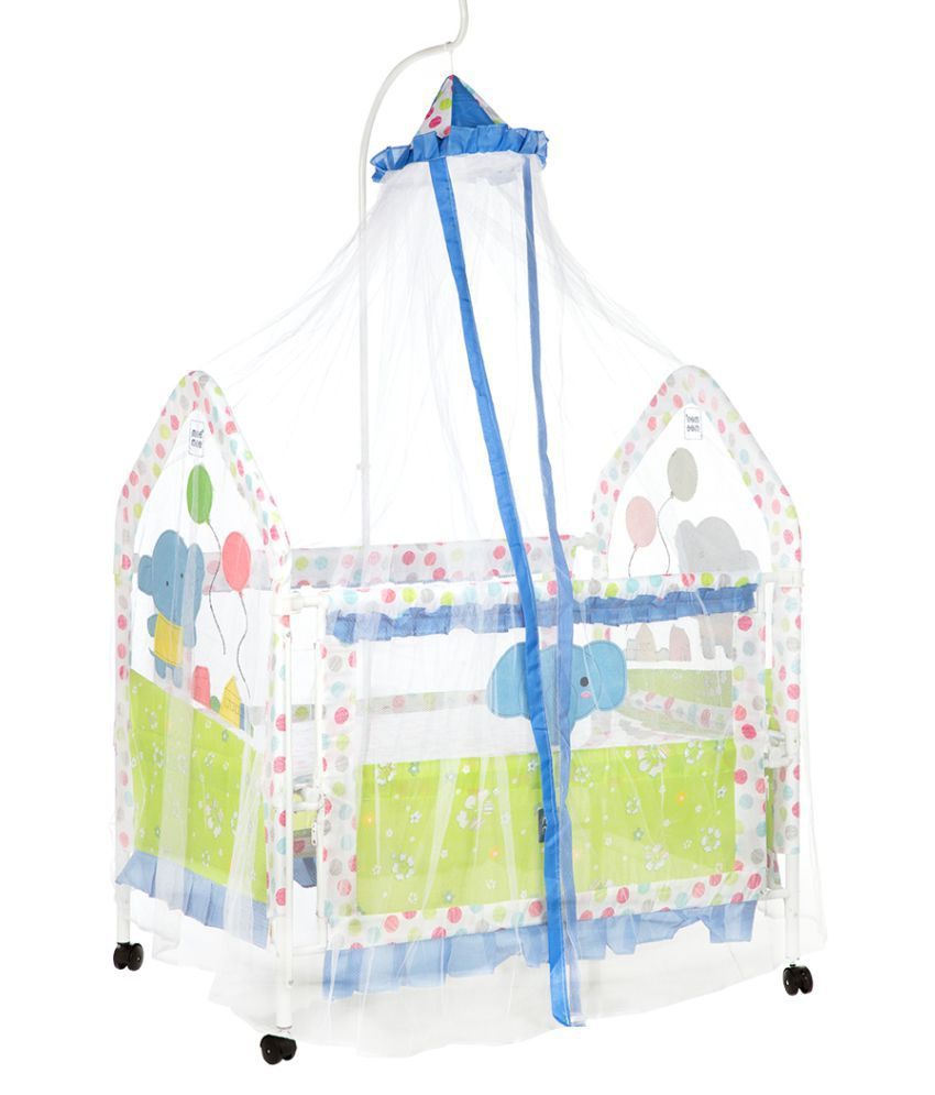 Mee Mee Metal Baby Cot with Swinging Function