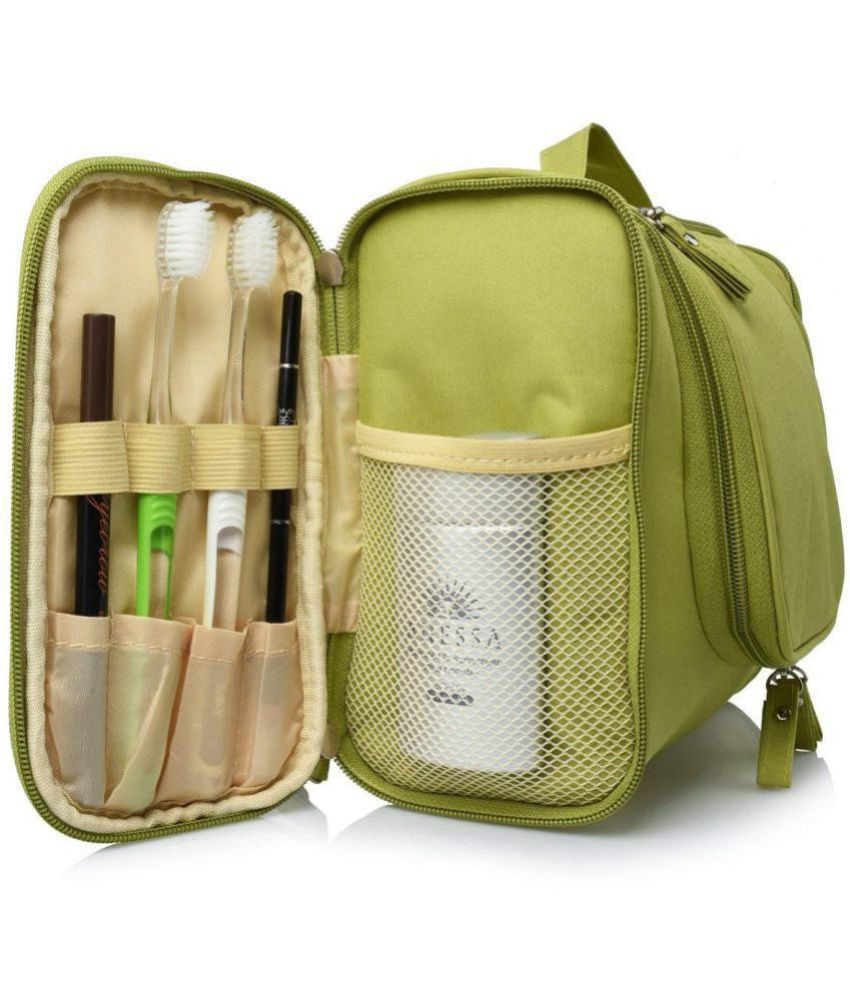 ... Kanha Green Hanging Toiletry Bag Make Up Bag Pouch Travel Kit Cosmetic  Bag Travel Kit Accessories ... 78db88f654489