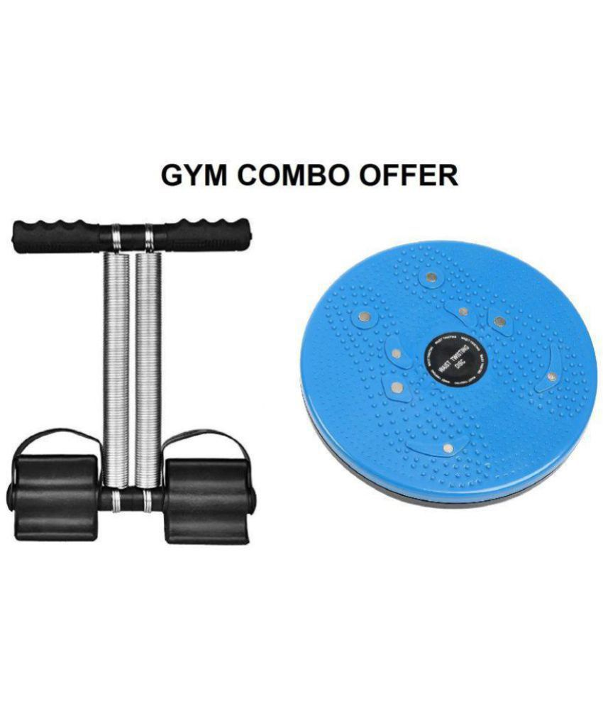 Tummy Trimmer & Twister Combo Abs Exercise Equipment For Home Gym(Multicolor) -Men & Women