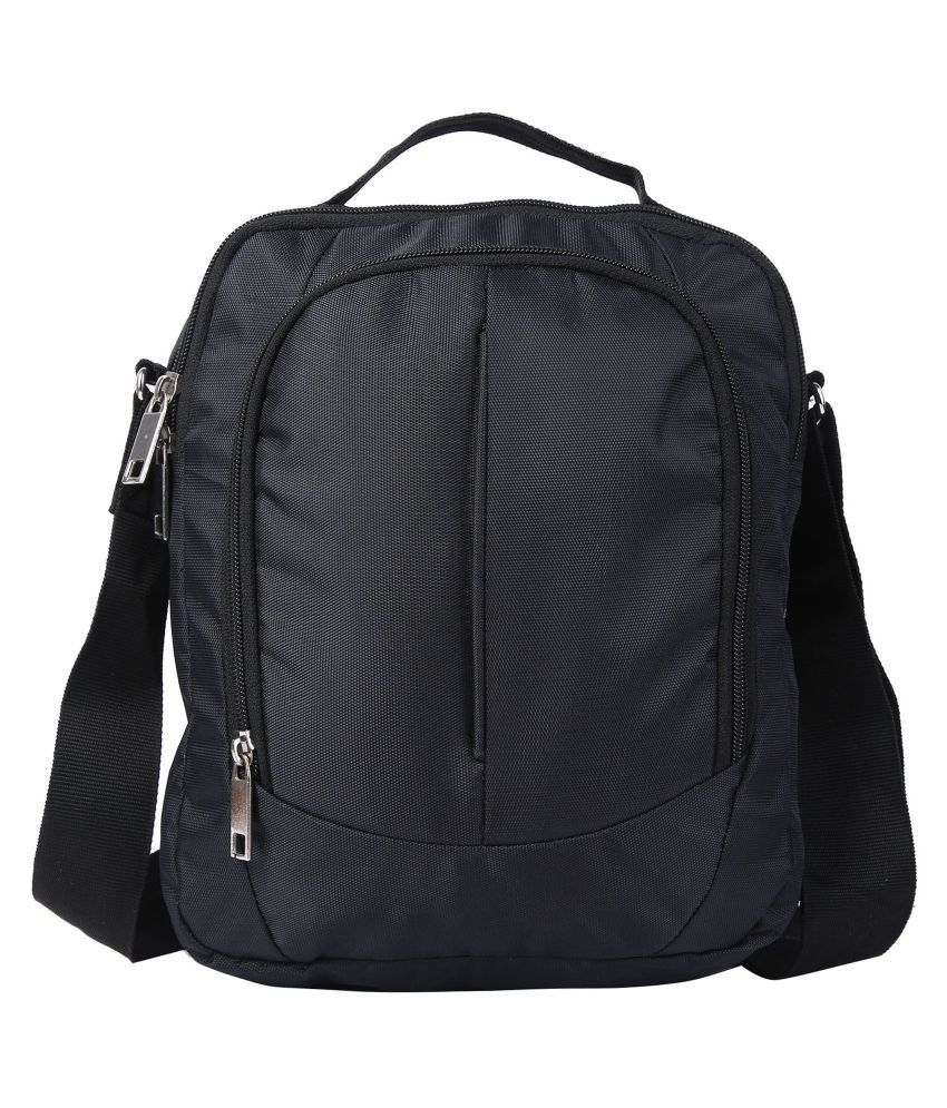 Hawai Black Casual Messenger Bag