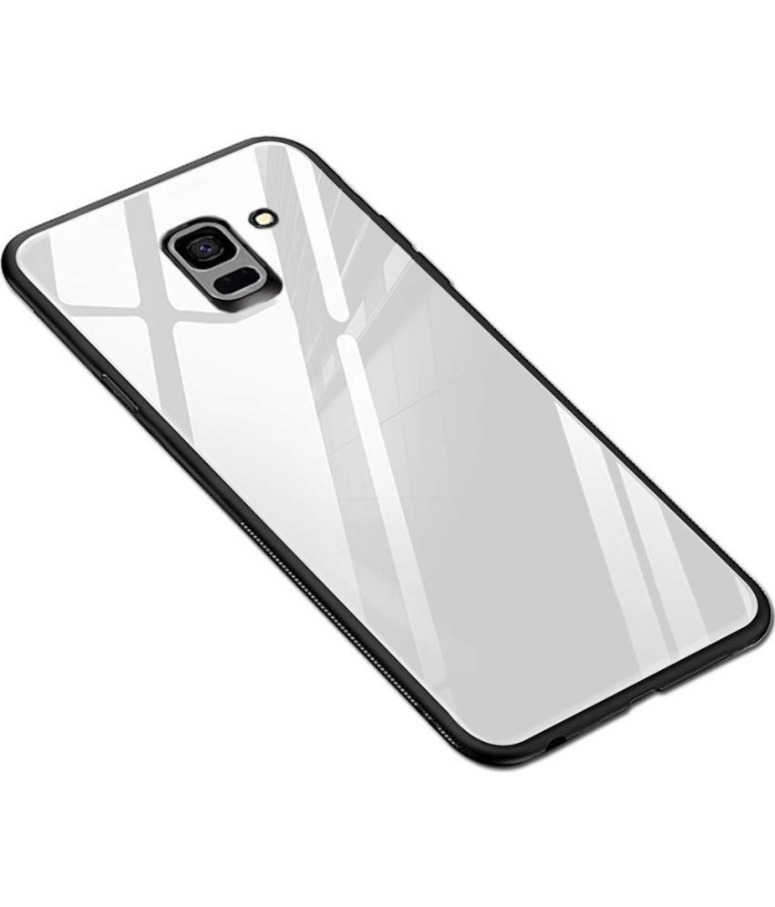 cheap for discount 16ccd 5f6d7 Samsung Galaxy J6 Glass Cover YGS - White Original Luxurious Toughened  Glass Back Case