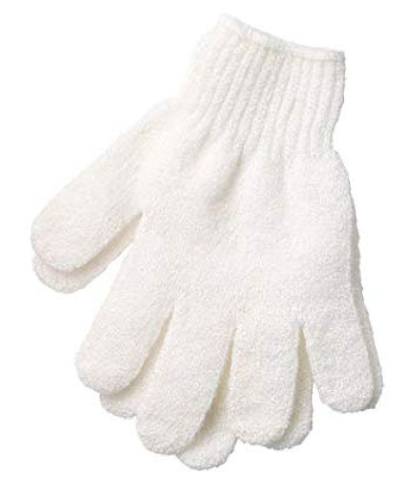 MANTARA Shower Exfoliating Wash Skin Spa Foam Bath Gloves Massage Loofah Scrubber