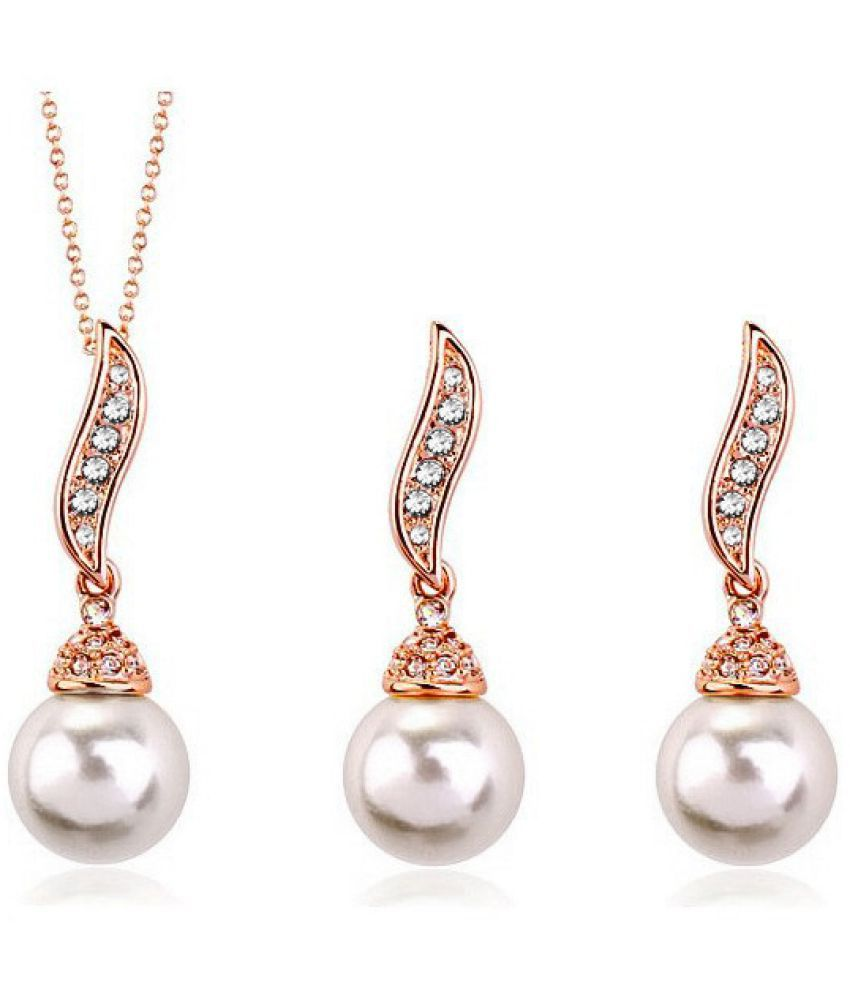 Foreign Trade Sources Bride Water Drill Pearl Necklace Set  Wedding Jewelry Banquet Gown Earrings