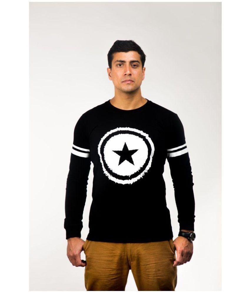Muntjac Black Full Sleeve T-Shirt Pack of 1