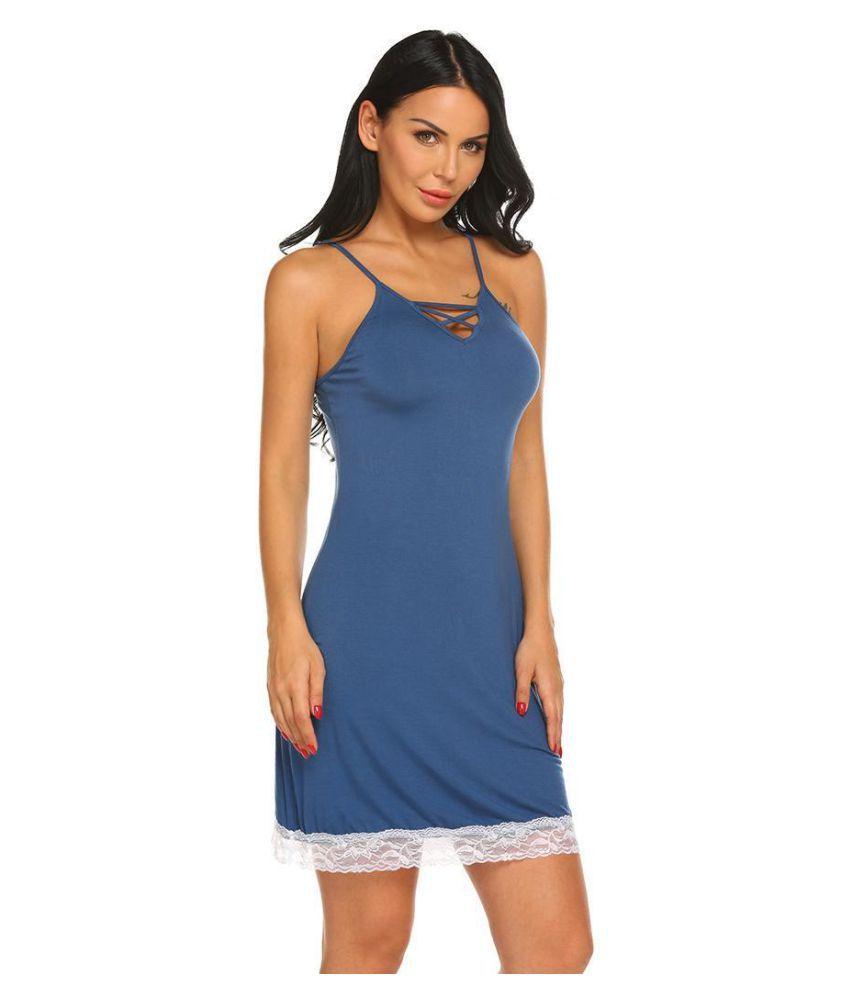 Generic Lace Night Dress - Blue