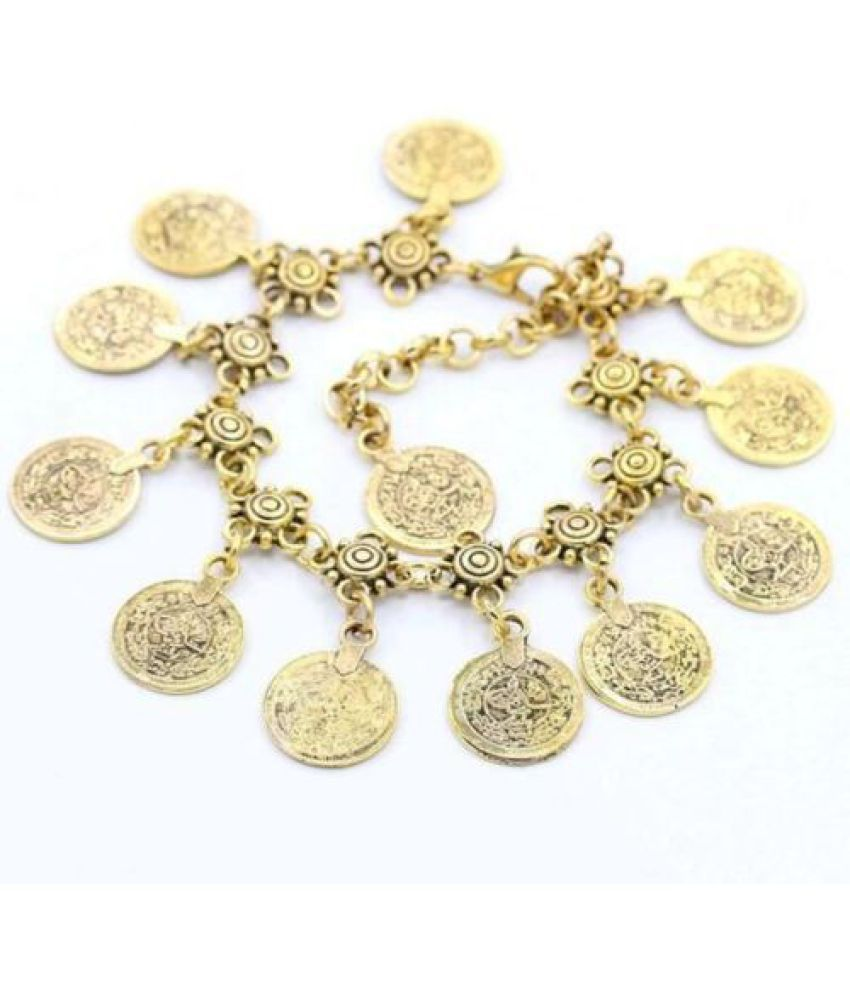 Accessories Fashion Vintage Style Coin Metal Coins Tassel Feet Pin Ornaments