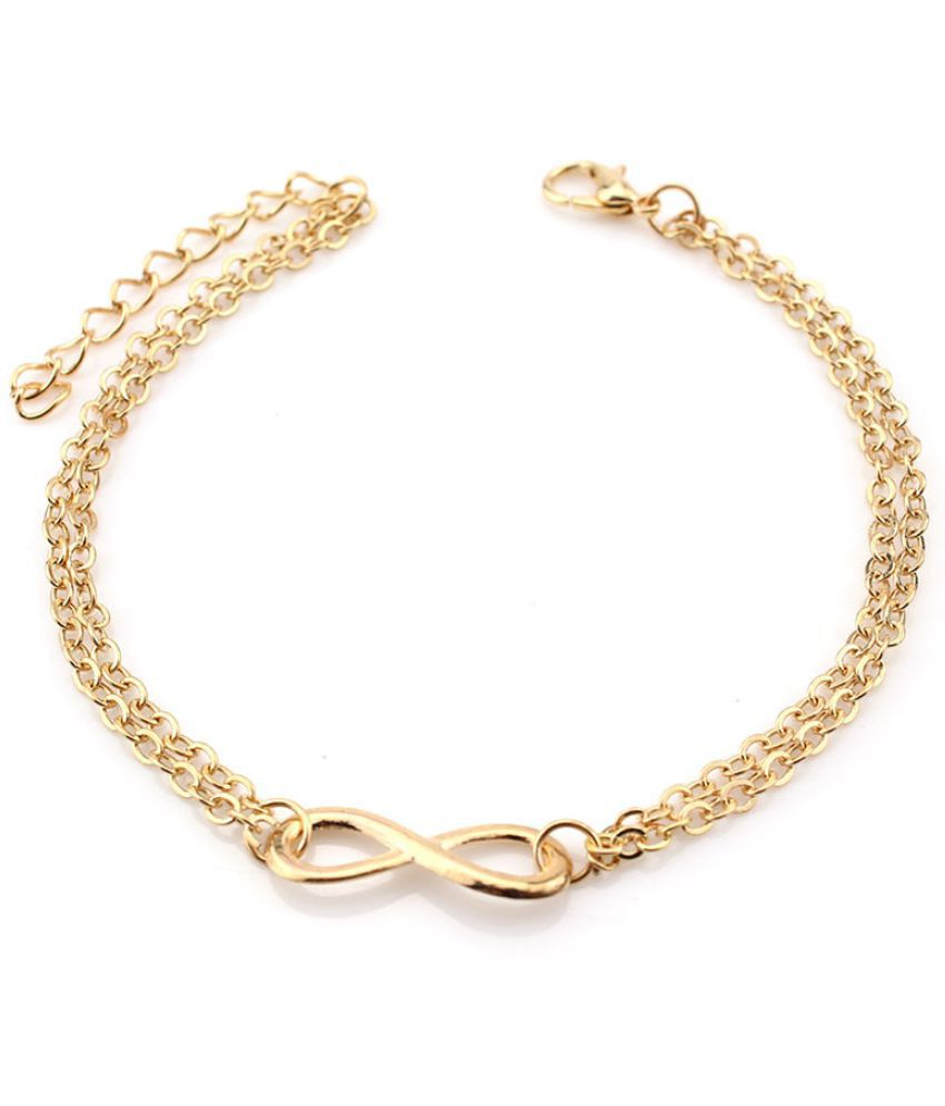 E 0020 Fast  America'S New Hot Jewelry Double  Foot Chains Fashion Alloy Women'S Foot Chains