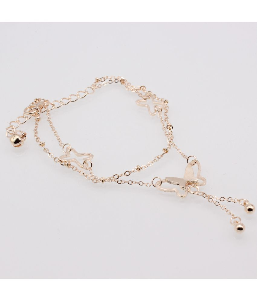Edition New Fashion Popular Double  Foot Chain