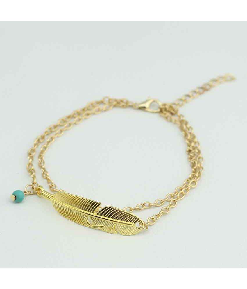 Fashion Summer Fashion Simple Feather Beads Tassel Chain