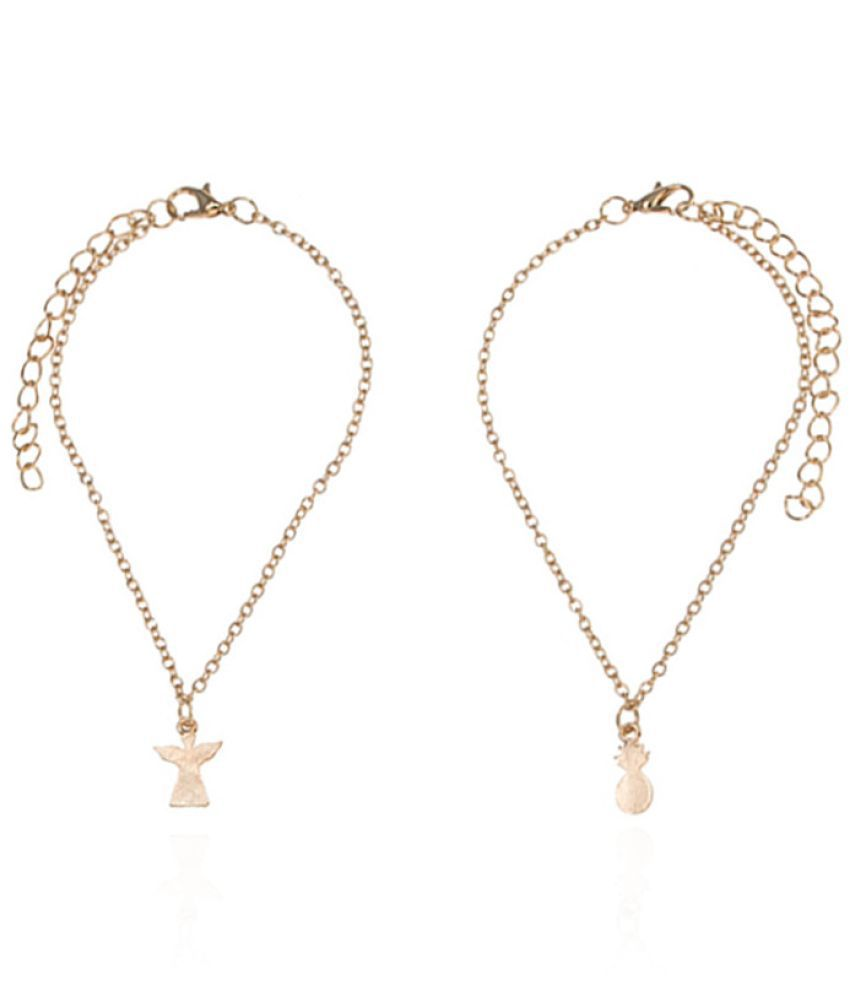 Fast Fashion Fashion Accessories New Beach Pineapple Angel Anklet Women'S Casual Set