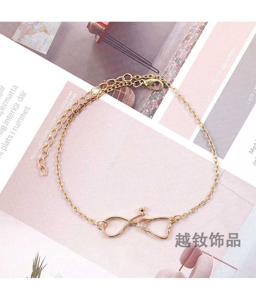 Hot Fashion Simple Fashion Fashion Jewelry Temperament Joker Street Racquet Different Shape Foot Chain Can Be Adjusted Without Fading