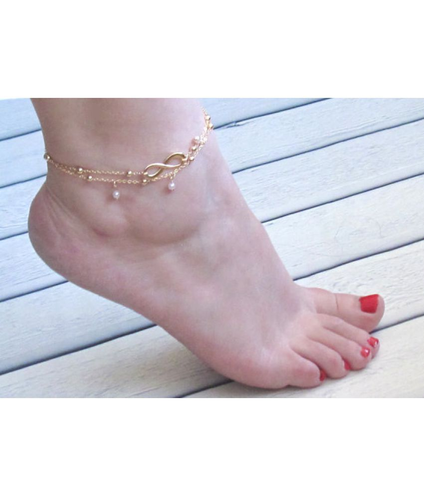 Hot Pin Unlimited Luck 8 Character Simple Anklets All Manual Beads Set Foot Chain