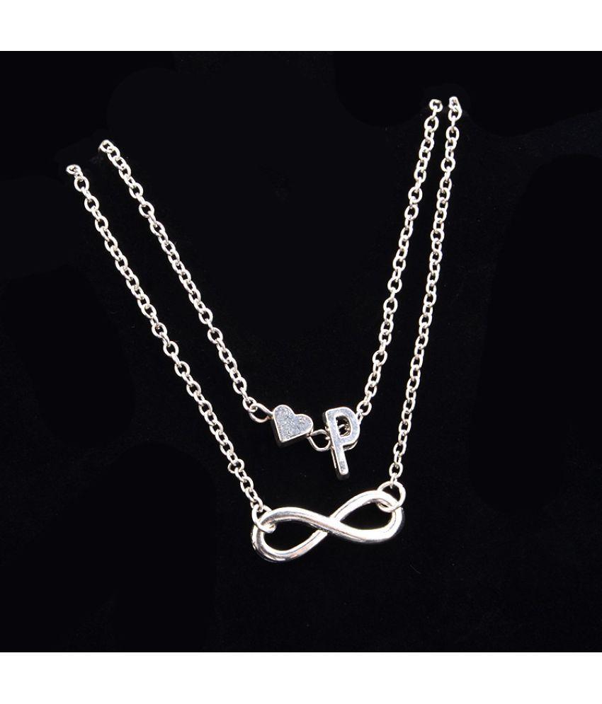 Love 26 Letter Alloy Anklet  Fashion Ladies Bracelet Chain Bracelet Set Of Jewelry
