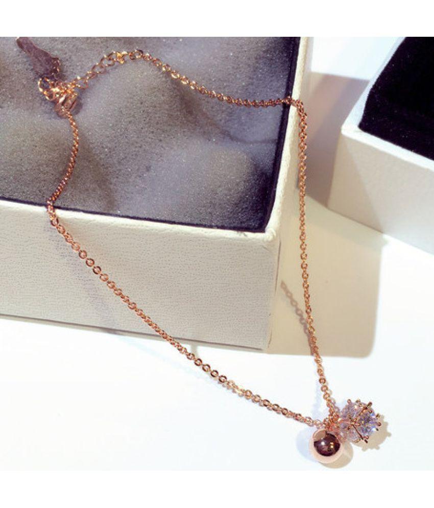 New Fashion Version Of  Exquisite Flash Inlaid Ball Ball Temperament 100 Feet Chain Bracelet Bracelet S00244