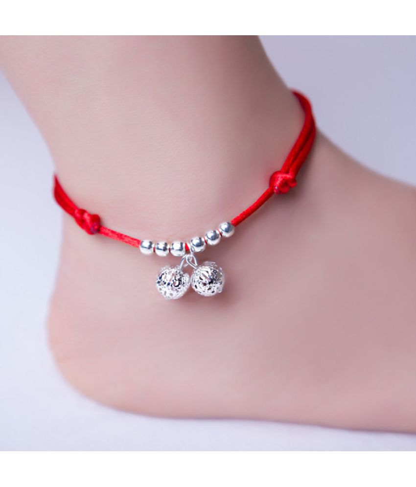 This Year Of Life D Knits Natural Jade Red Rope Feet Chains Feet Strings Men'S Feet Rings Legs Strings Students' Simple Bracelet