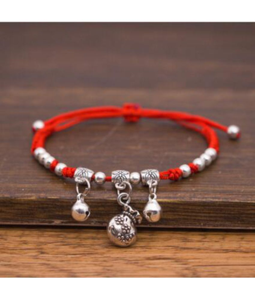 Version Of Sweet Wild Bag Leaf  Bracelet D Knitted Adjustable Foot Chain Water Droplet Bell Anklet Female
