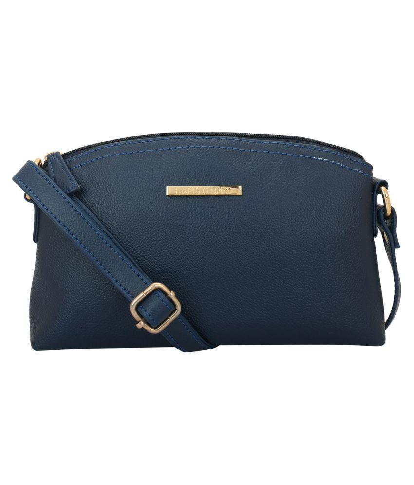 Lapis O Lupo Blue P.U. Sling Bag