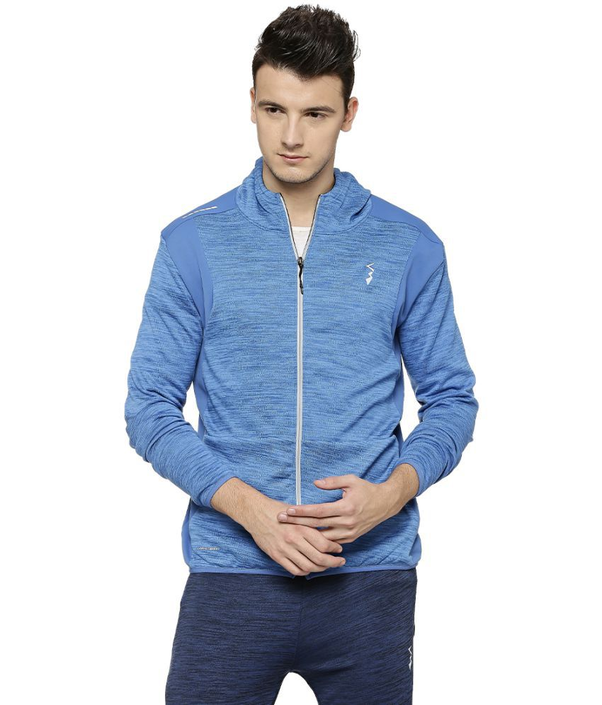 Campus Sutra Blue Polyester Fleece Jacket Single Pack